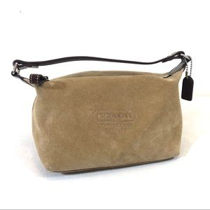 Coach Camel Suede Cosmetic Pouch